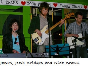 Josh Bridges on bass, Nick Brown on Guitar, James Hampton on keyboard